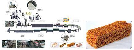 400-600 kg / h Línea de la barra del cereal